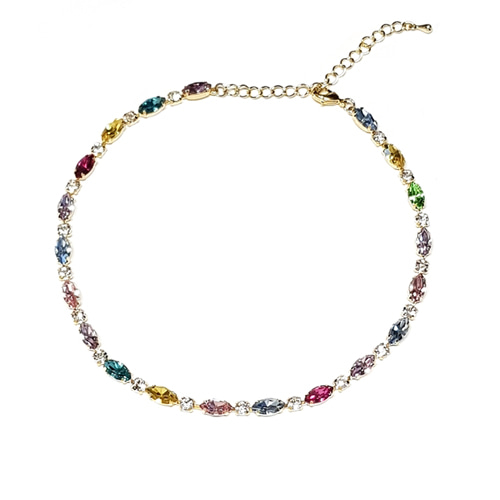 Multi Stone Multi Color Choker