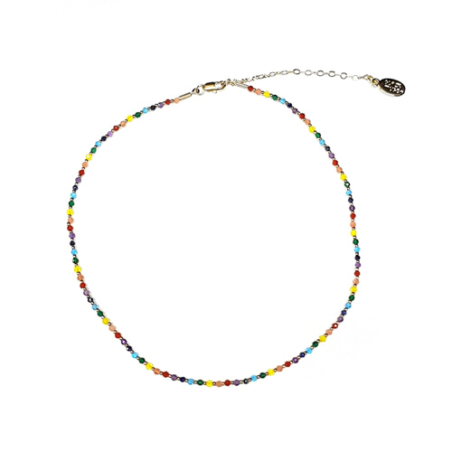 Multi Natural Stone Choker Necklace