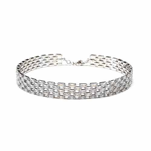 Crystal Layered Choker