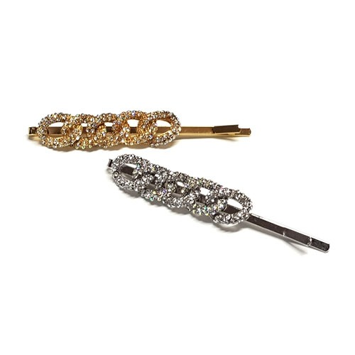 Stone Chain Hair Pin Set
