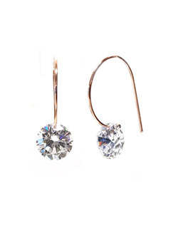 [즉시배송 925Silver] Cubic Through Earrings