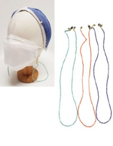 Color Bead Mask Strap
