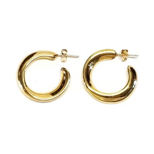 [925Silver] Glam Wave Hoops