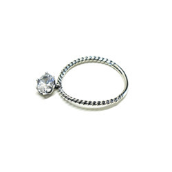 [silver] silver ellipse cubic ring