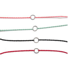 [silver] silver circle colorful bracelet