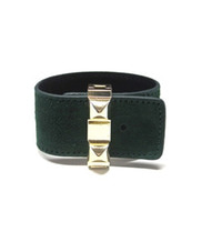 Gold Stud Leather Band