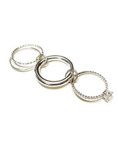 [4Pcs Set] 925Silver Layered Rings
